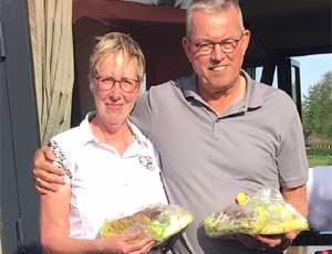 zijn Wim en Wilma de Vos met 41 punten.